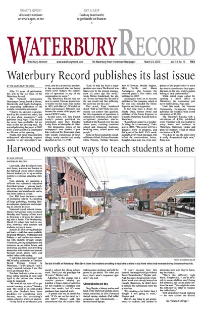 Waterbury Record - March 26, 2020