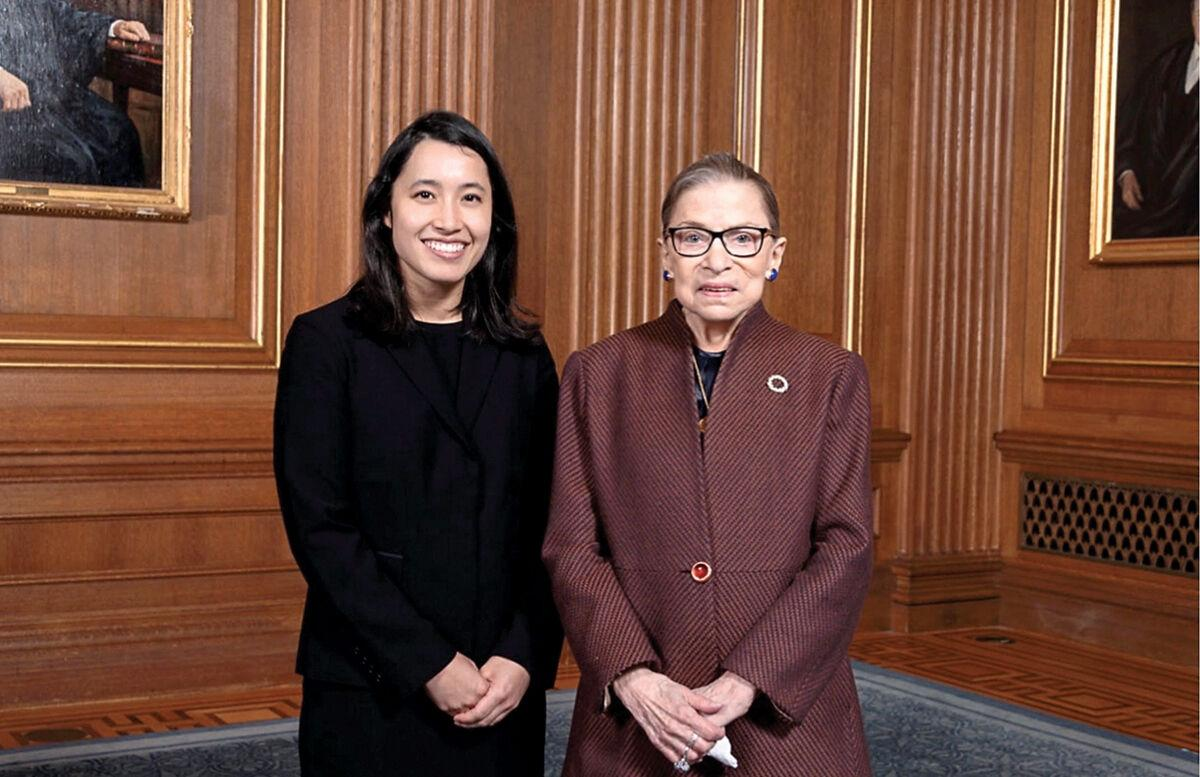 Becca Lee poses with Justice Ruth Bader Ginsburg