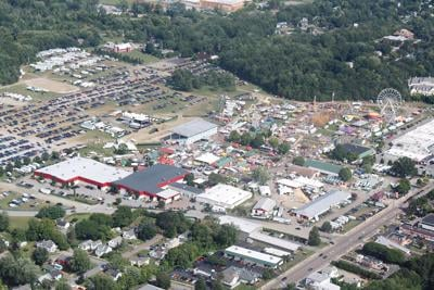 Aerial view of the Champlain Valley Fair