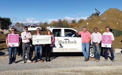 BlackRock Construction and Adam Hergenrother Companies wear pink