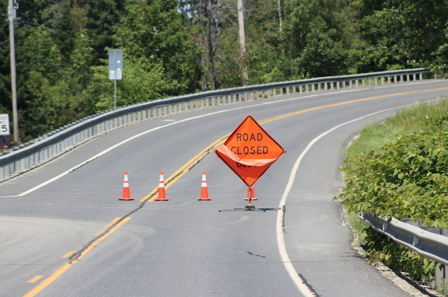 Route 12 closed