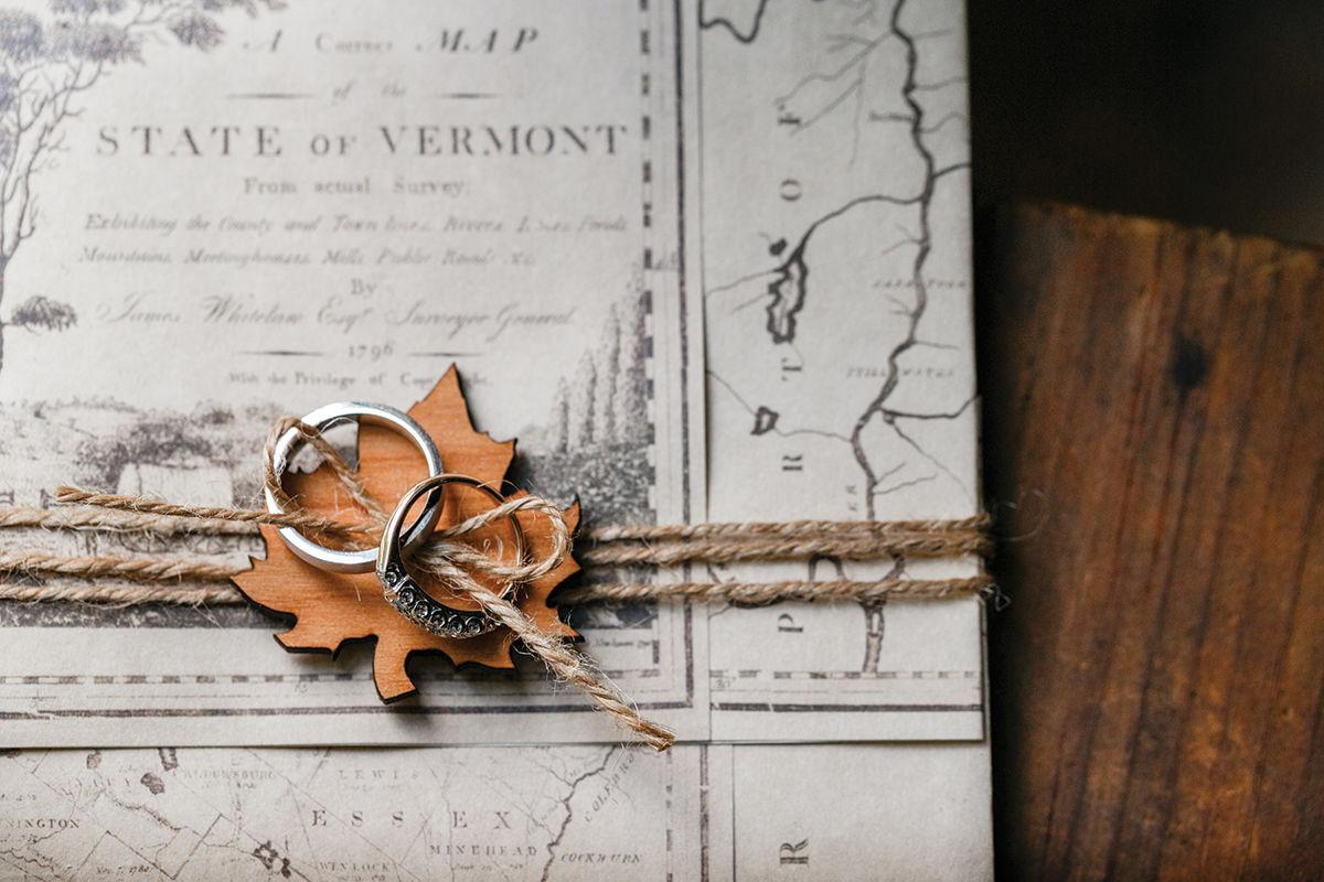 Rings, Vermont map
