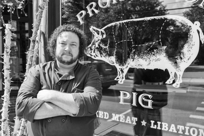 Michael Werneke, chef at Prohibition Pig