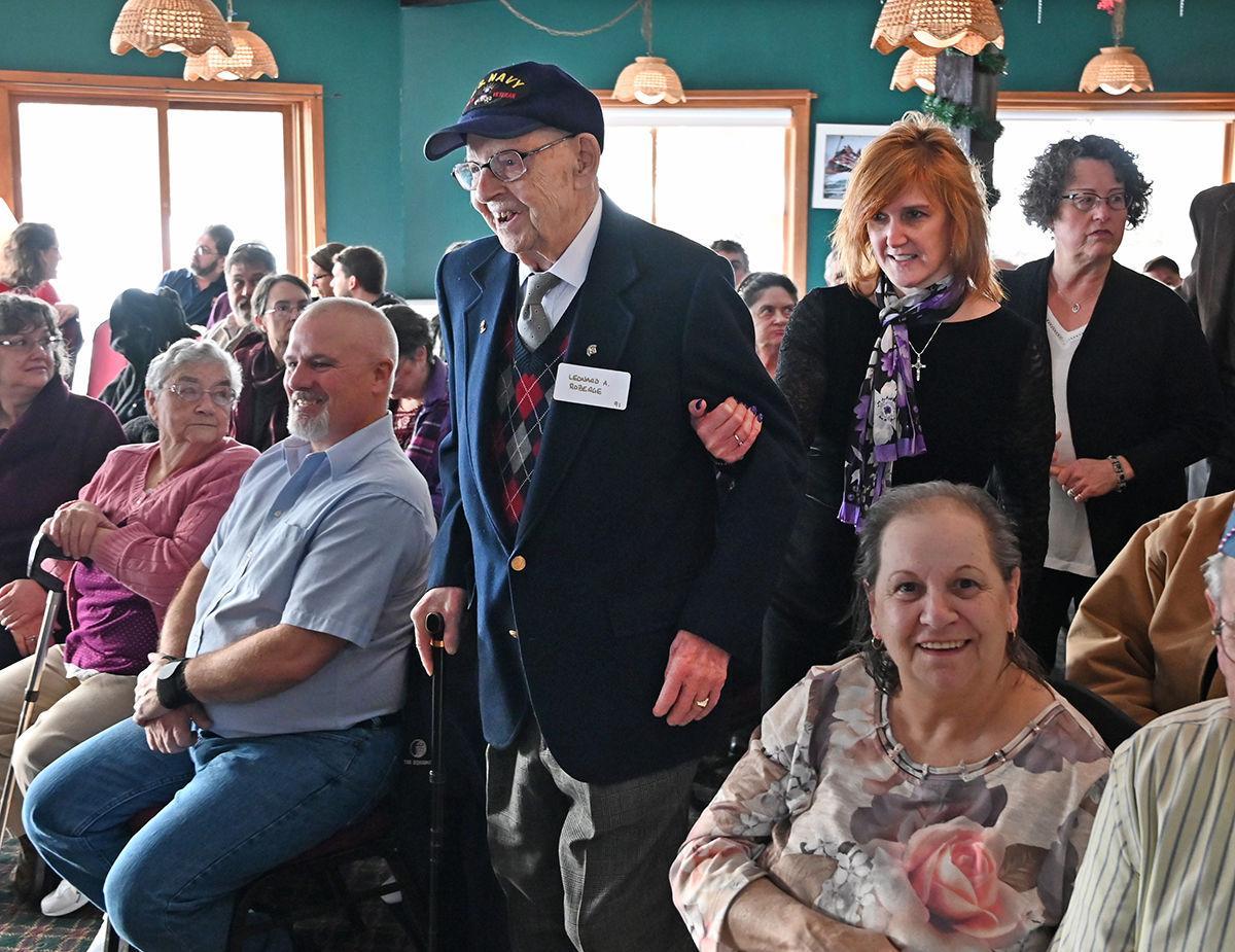 World War II veterans honored: Leonard Roberge & Tammy Despault