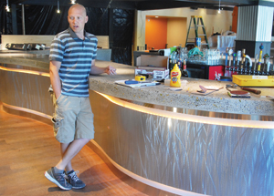 Owner Ed Rovetto in the nearly completed interior of the renovated restaurant.