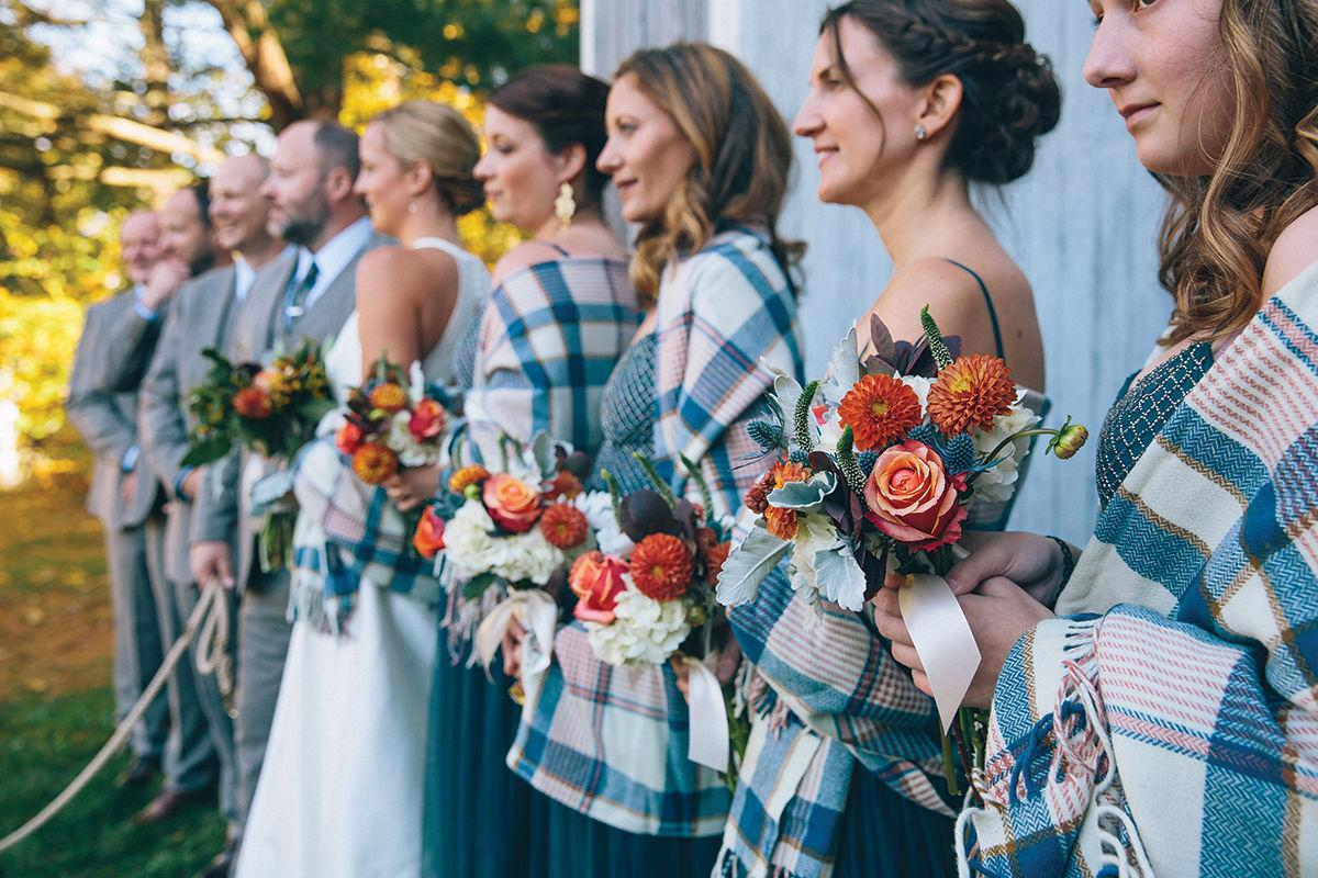 Plaid bridesmaids