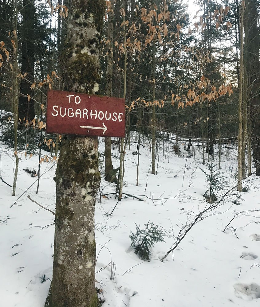 Maple sugar house sign