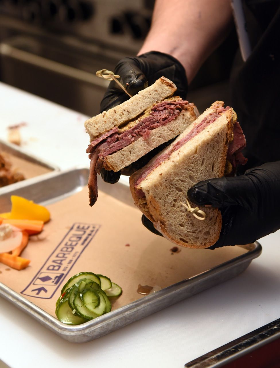 4393 Awards: Best new restaurant - Hot pastrami on rye, Black Diamond BBQ