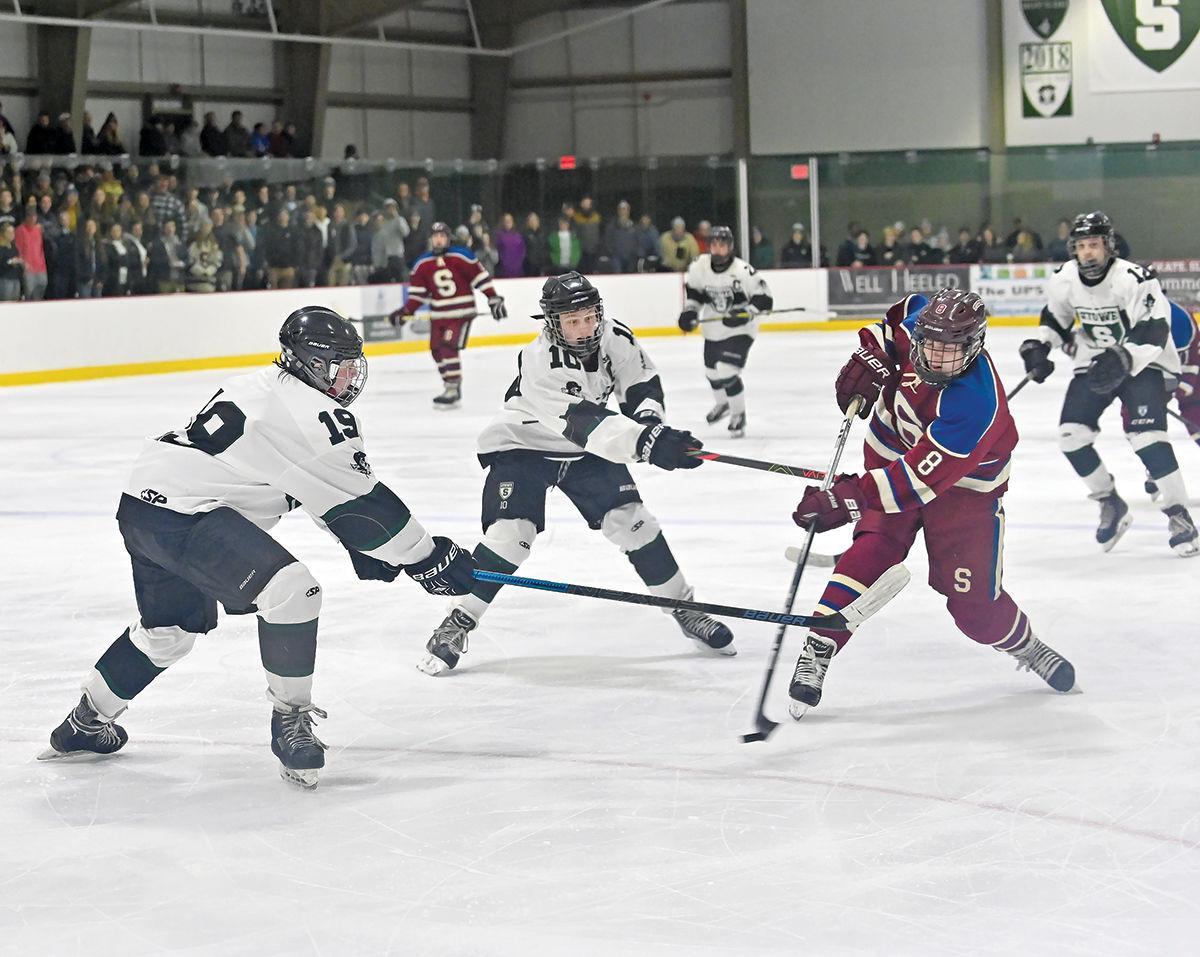 Stowe boys hockey: Eames and Atticus Eiden