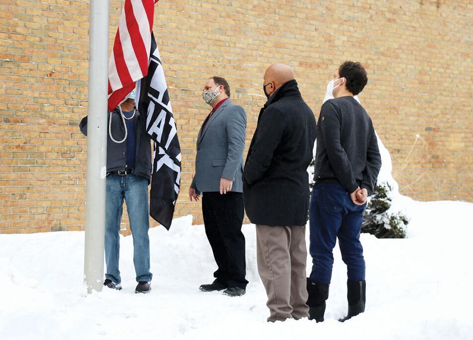 Black Lives Matter flag flies at Frederick H. Tuttle Middle School