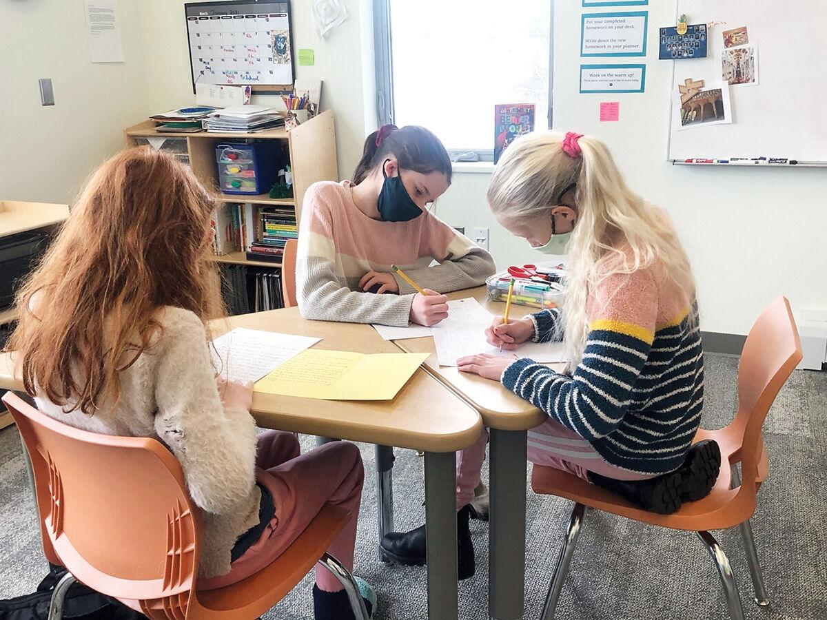 Students at the Vermont Day School write to their new pen pals