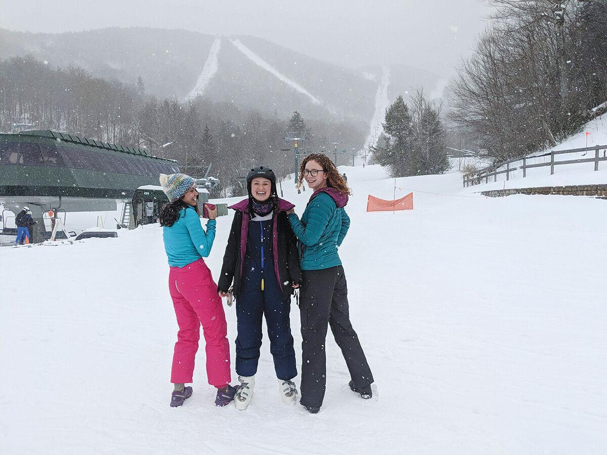 Zippered ski pants