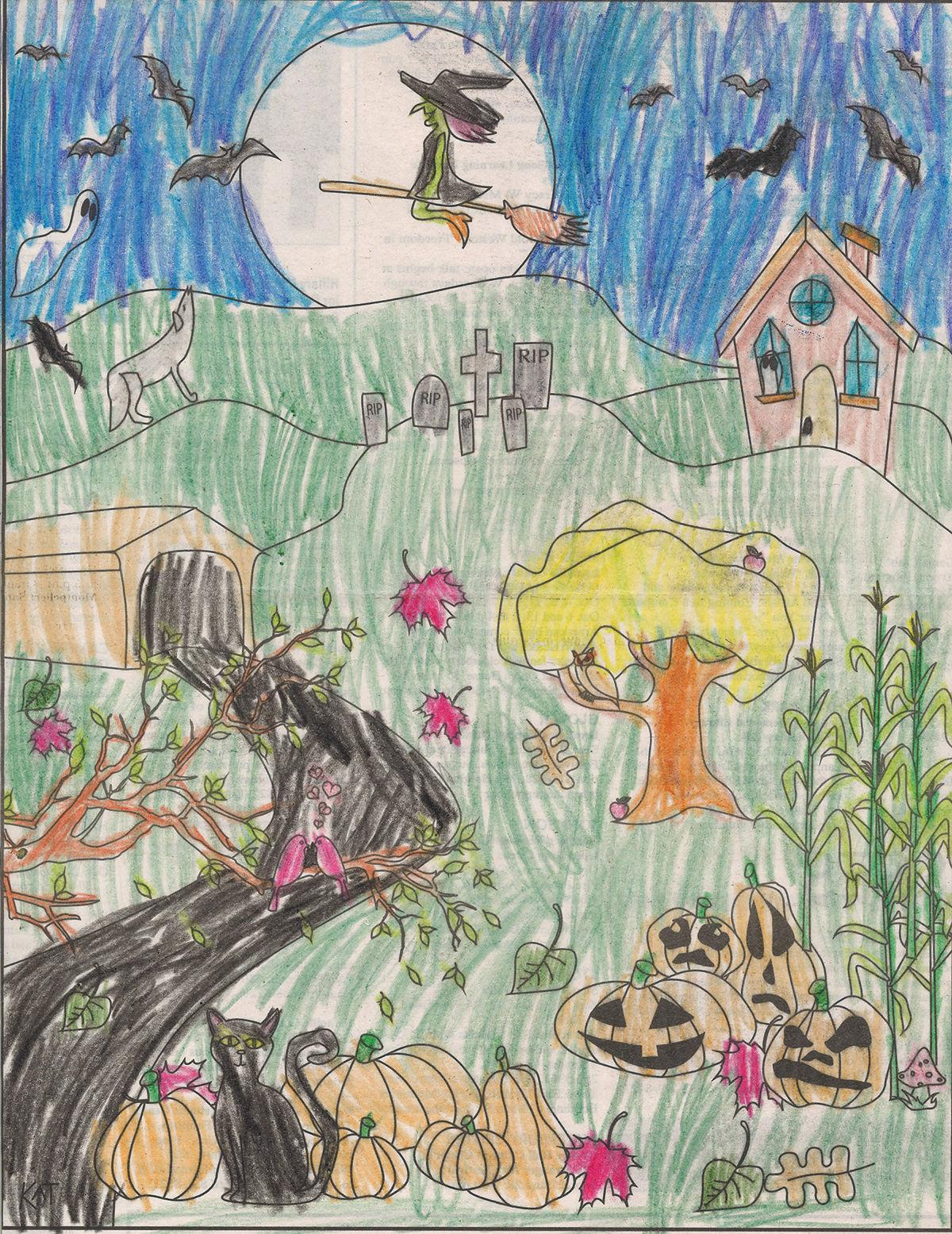 Age Group 5 and Under Second Place Winner: Artwork by Emelie Barnard