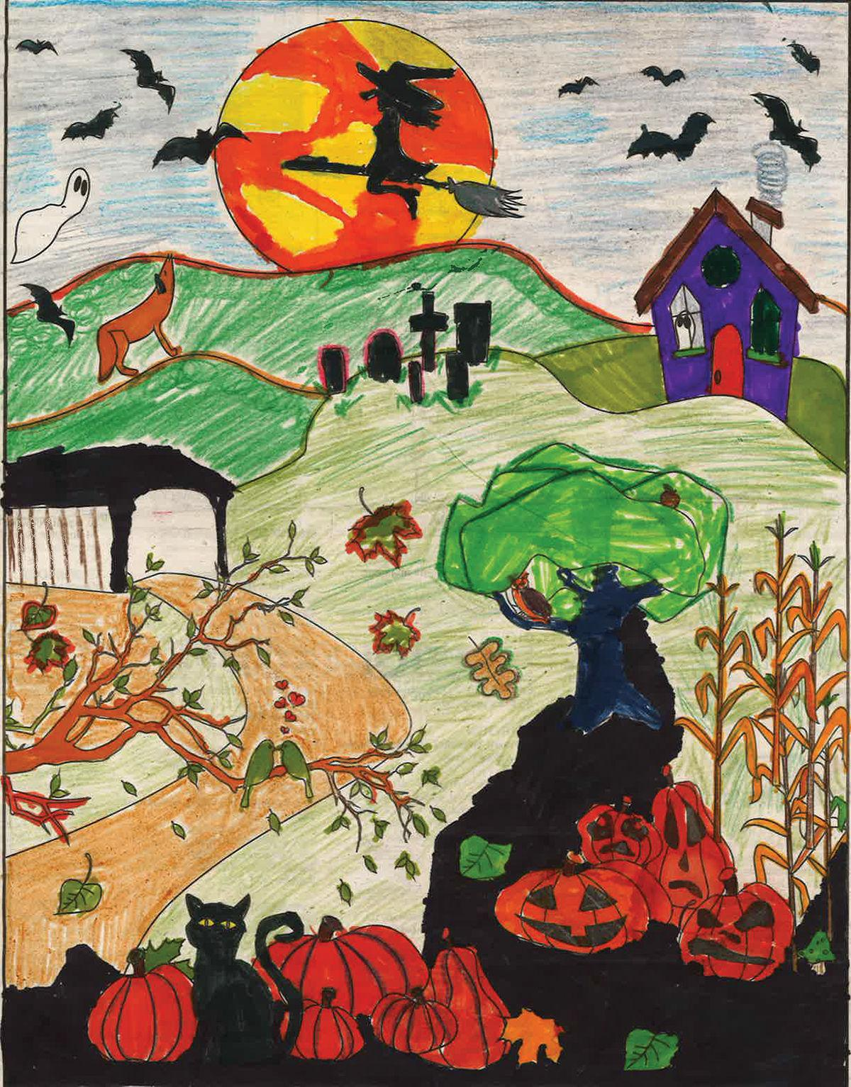 Age Group 5 and Under First Place Winner: Artwork by Maverick Cochran