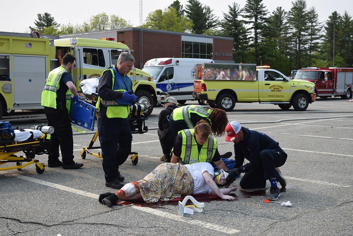 Drunk driving crash re-enactment
