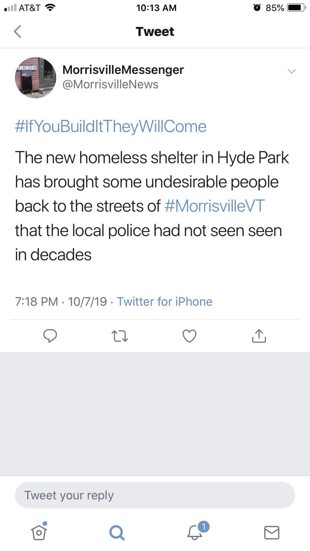 Morrisville Messenger tweet