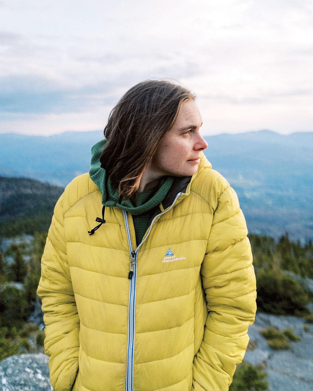 Francesca Blanchard poses on the summit of White Rocks