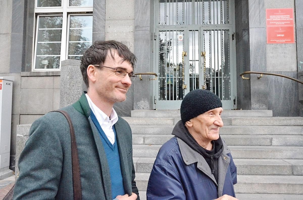 Fairweather with Warsaw Uprising veteran Bohdan Walasek
