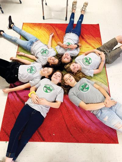 The fifth-sixth grade spelling team from Hinesburg Community School