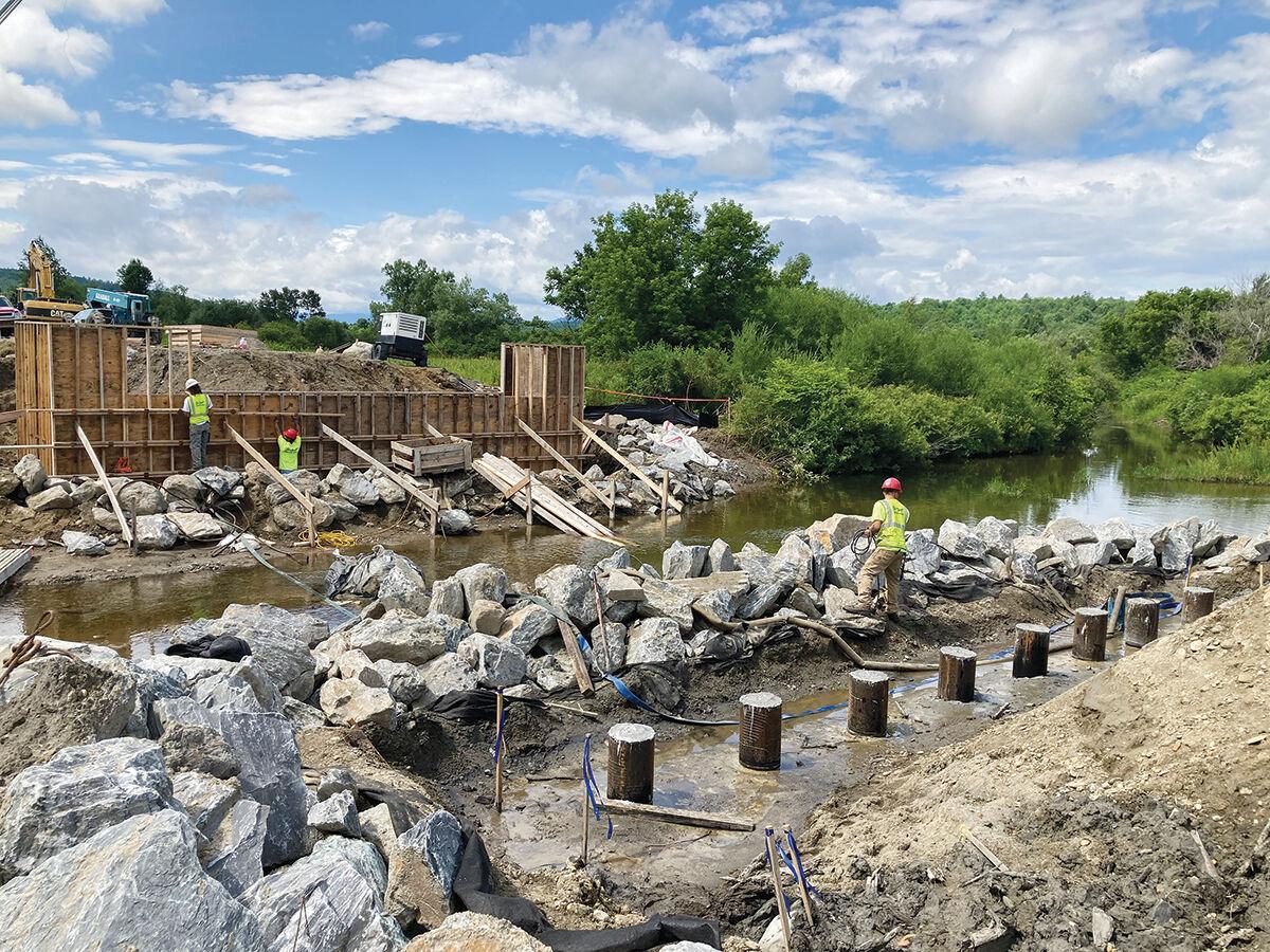 Stagecoach Road bridge work