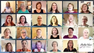Bella Voce singers practice