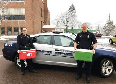 Officers Cpl. Brianne Williamson and Sgt. Dennis Ward