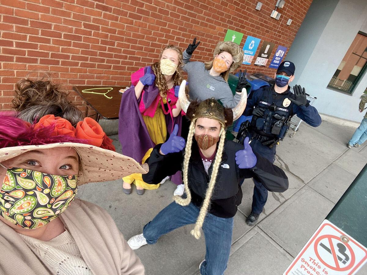 Mask distribution day at City Market