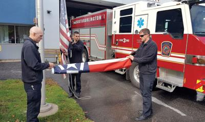 Fire recruit candidates Alex McCarthy, Evan Giard and Dan Mullin