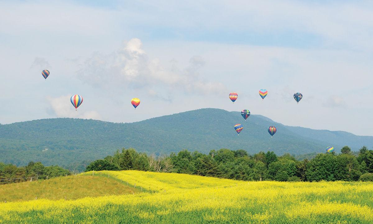 Balloons over Mayo Farm