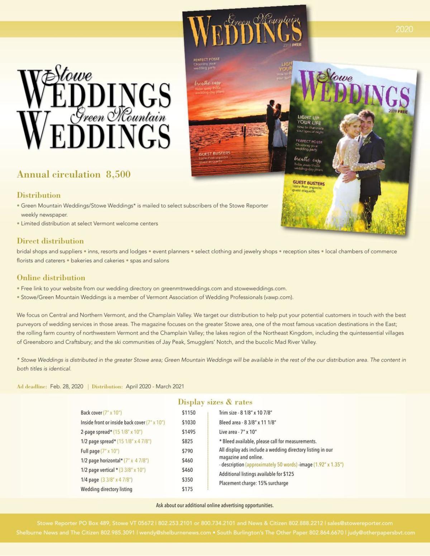 Stowe and Green Mountain Weddings
