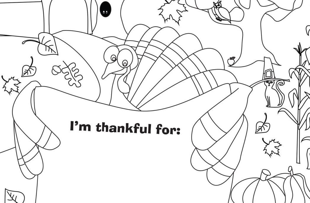 Enter our Thanksgiving Coloring Contest!