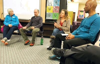 Community members meet to discuss how to talk to kids about race