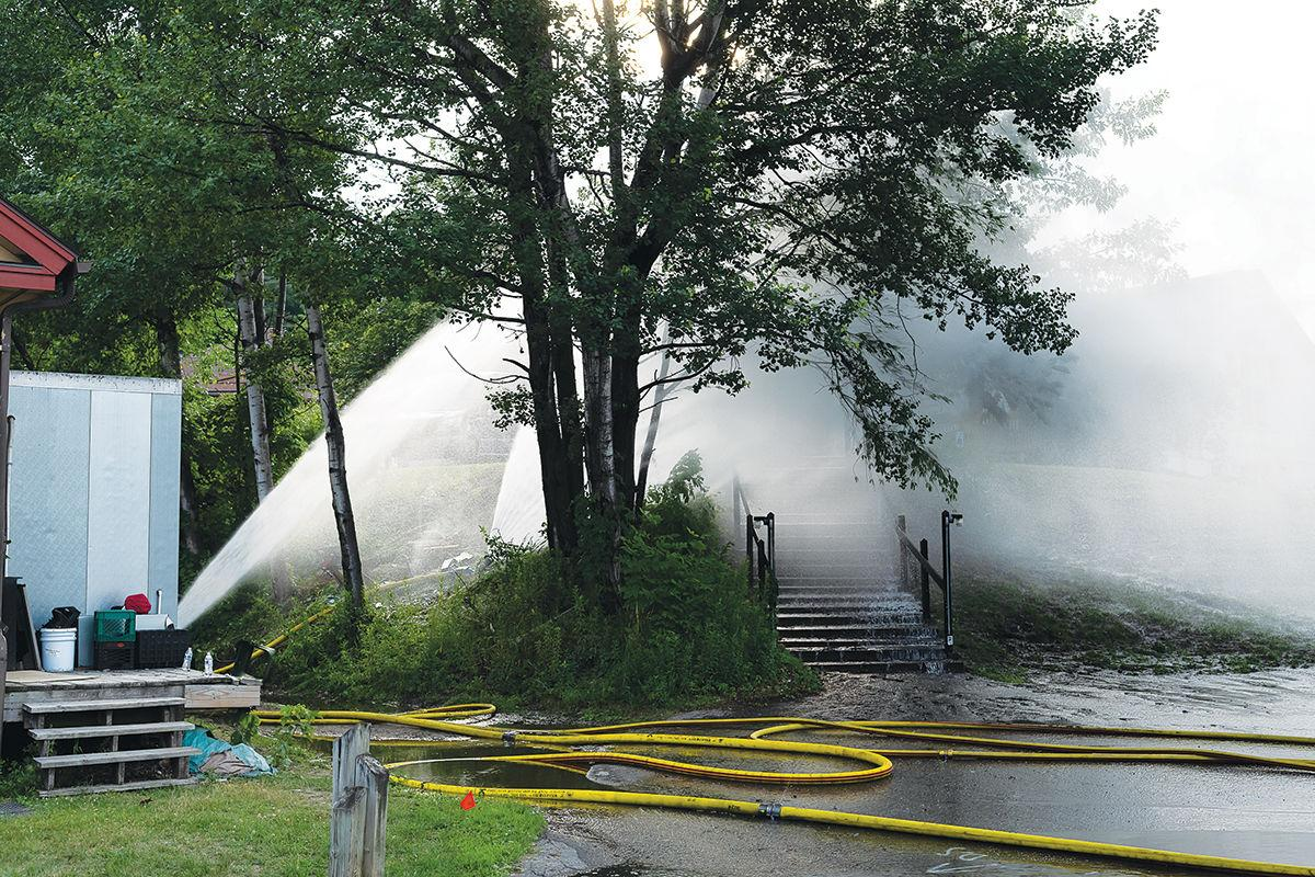 Car struck propane tank on Tuesday