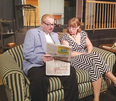 Valley Players on stage with 'Noises Off'