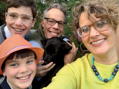 Cate Cross with her family