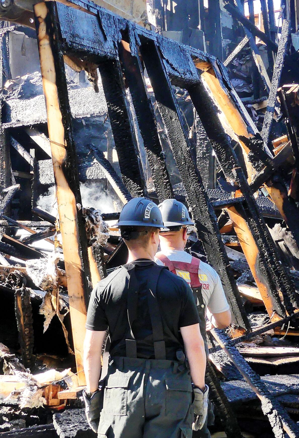 Fire investigators on scene