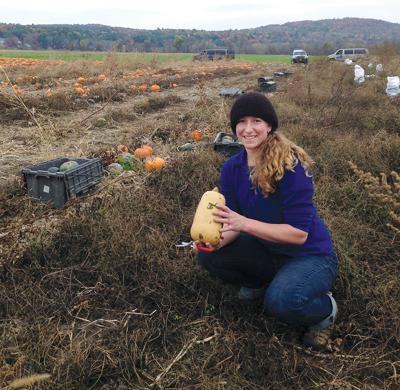Theresa Snow on farm
