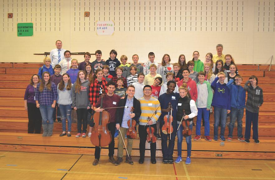 Perlman musicians visit Stowe school