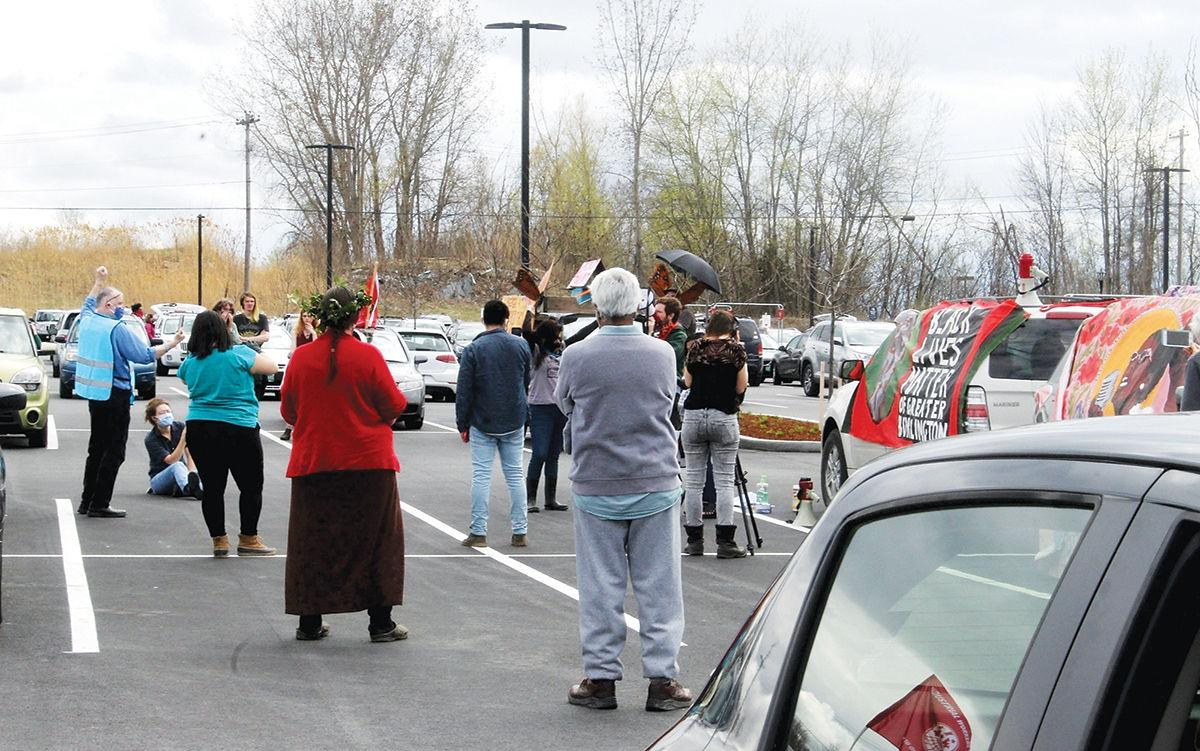 May Day protesters gather