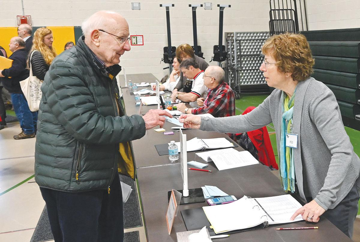 Morristown Town Meeting 2020: Checks in