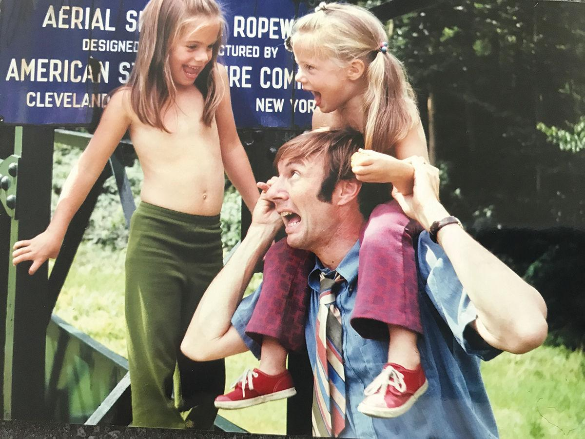 David Stackpole with daughters