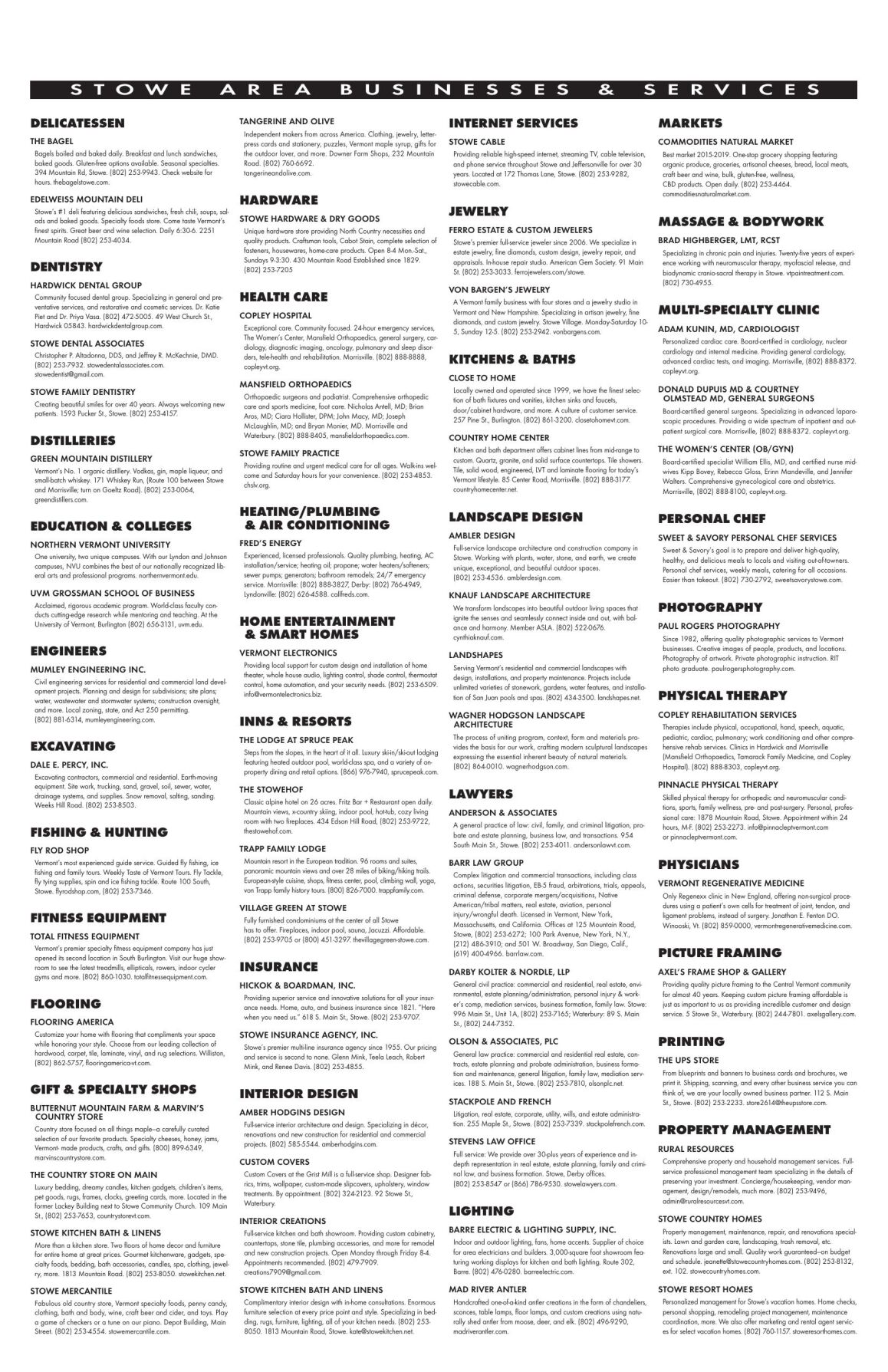 Area Businesses & Services (D-P)