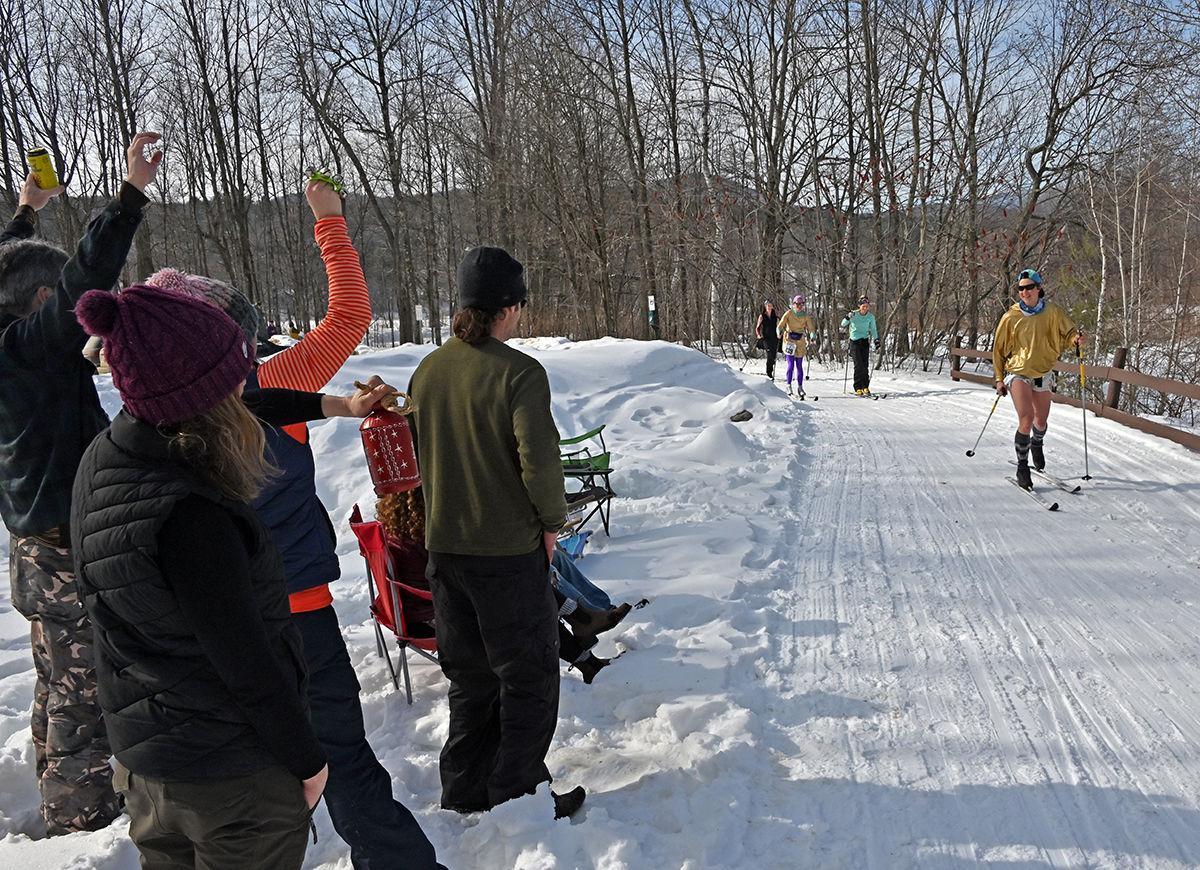 Greet skiers
