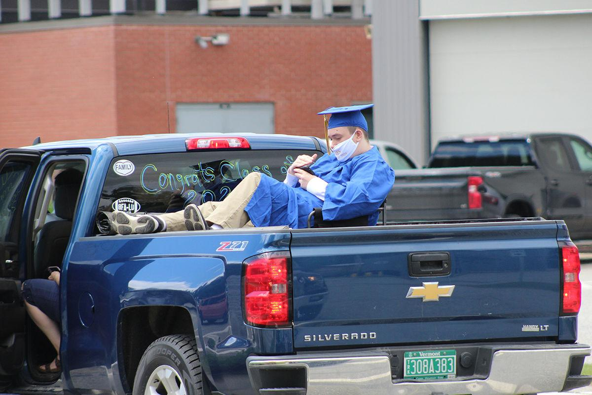 lamoille union graduates drive for diplomas local news vtcng com lamoille union graduates drive for