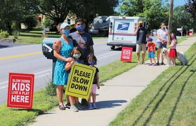Neighbors ask drivers to slow down