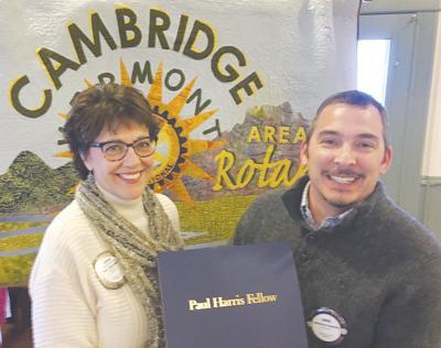 Cambridge Area Rotary Susan Lassiter, Christian Damato