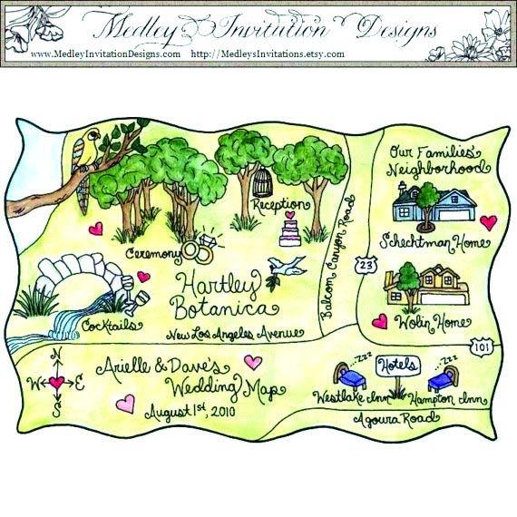 The Vermont Branch Company's Medley Invitation Design's hand-painted custom invites.