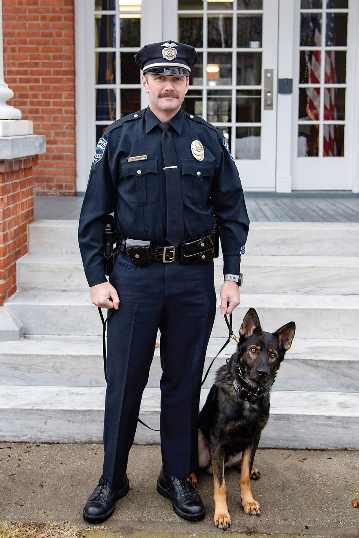Burlington Officer Geno Baccaglini and K-9 Billy