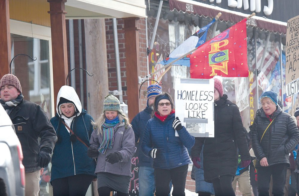 Homeless awareness march in Morrisville