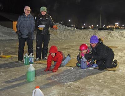 Waterbury Winterfest's ice-jug curling competition